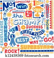 First Place Champion Word Doodles