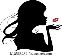 Flying Kiss Silhouette