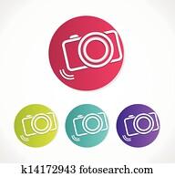 fotoapperat, symbol