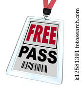 Free Pass - Lanyard and Badge