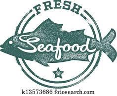 Fresh Seafood Menu Stamp