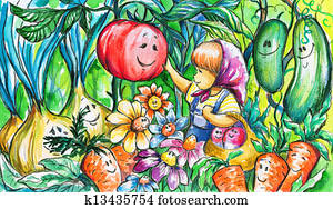 Gardener girl