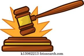 Gavel Striking Loud