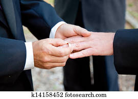 Gay Wedding - Exchanging Rings