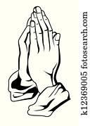 gebet, hand