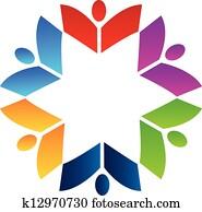 gemeinschaftsarbeit, buecher, logo