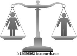 geschlecht, gleichheit, geschlecht, gerechtigkeit, waage
