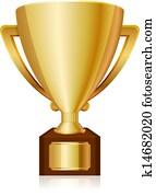 gold shiny trophy
