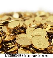 Golden Bitcoin digital currency bac