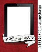 graduation 2013 banner on tablet