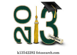 green and gold for 2013 graduation