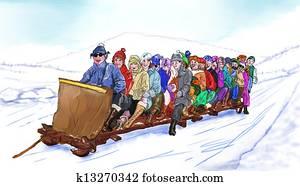 Group sledding