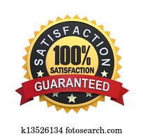Guaranteed Label with Gold Badge