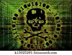 hacker attack concept cover illustration
