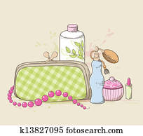 Handbag and cosmetics