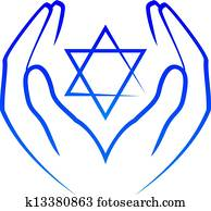 hands holdin star of David