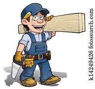 Handyman - Carpenter blue