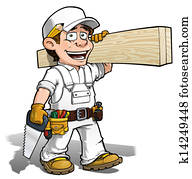 Handyman - Carpenter Color it Yourself