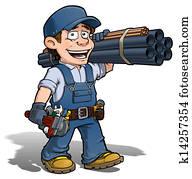 Handyman - Plumber Blue