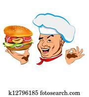 Happy joyful Chef