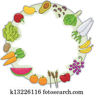 Healthy Food Frame