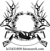hunting frame with hat