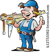 illustration of an Happy Carpenter