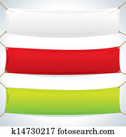 Illustration of Textile Banners Template