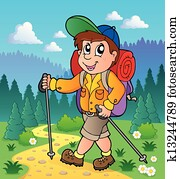 Image with hiking theme 1
