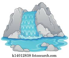 Image with waterfall theme 1