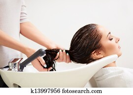 In a beauty salon