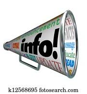 Info Information Bullhorn Megaphone Update Alert
