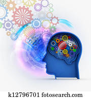 Intelligence concept in abstract