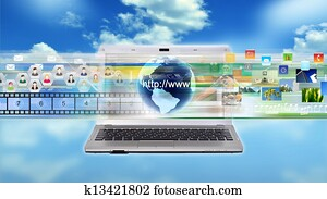 Internet multimedia Laptop