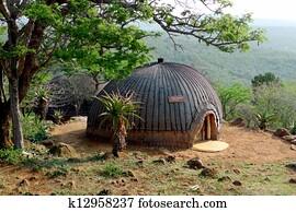 Isangoma house in Shakaland