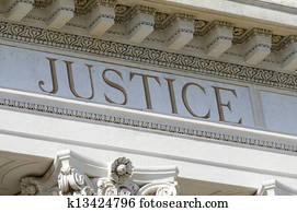 justice engraved on courthouse