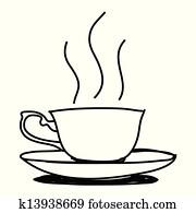 Clipart Kaffeetasse Hand Gezeichnet K13938671 Suche Clip
