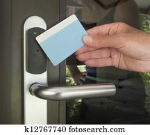 Key card security entry