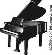 klavier, silhouette