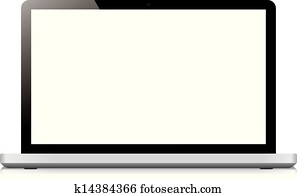 laptop display screen isolated