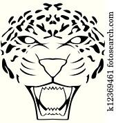 leopard, gesicht