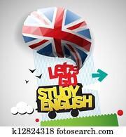 Let's go study English background