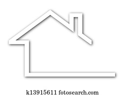 Logo - a house with a gable roof