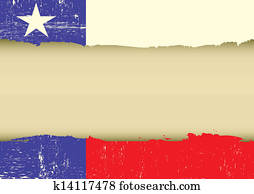 Lone Star Flag scratched flag