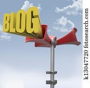 Loudspeaker big voice of media blog