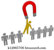 Magnet find choose hire person group
