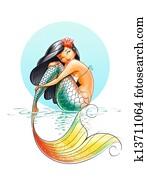 mermaid fairy-tale character