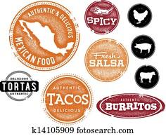 Mexican Food Menu Stamps