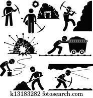 Mining Worker Miner Labor People