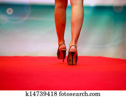 Model during fashion show